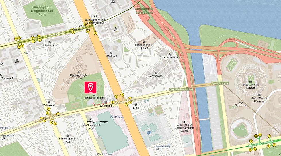 Getting to Bongeunsa Temple & Location Map | Seoul, South Korea