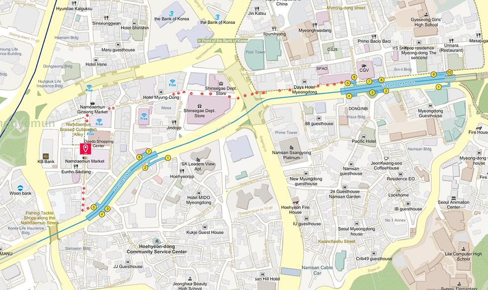 Getting to Namdaemun Market & Location Map | Seoul, South Korea