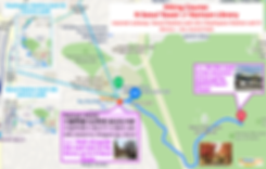 Map of Hiking Course - N Seoul Tower to/from Namsan Library
