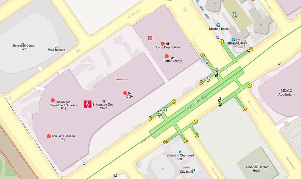 Getting to Shinsegae Centum City & Location Map | Busan, South Korea