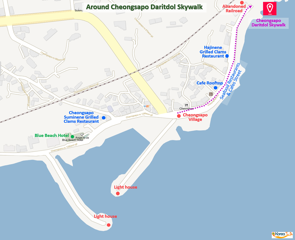 Location Map of Cheongsapo Daritdol Skywalk | Busan, South Korea