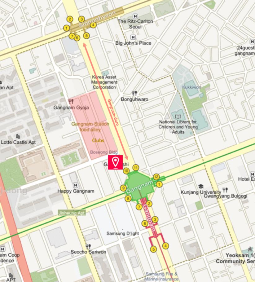 Gangnam Shopping Street & getting there - KoreaToDo