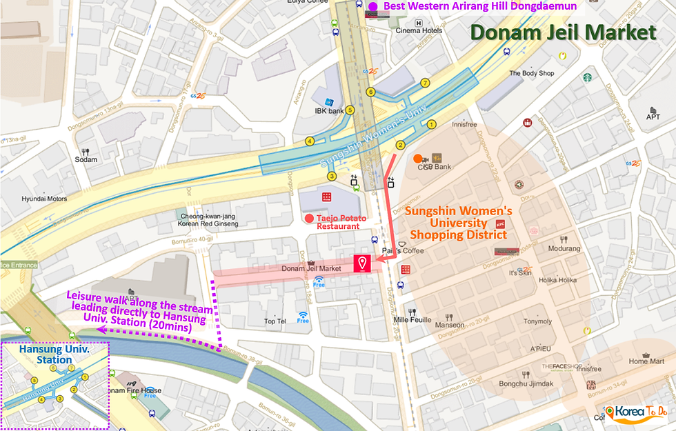 Donam Jeil Market - Location Map | Seoul, Korea