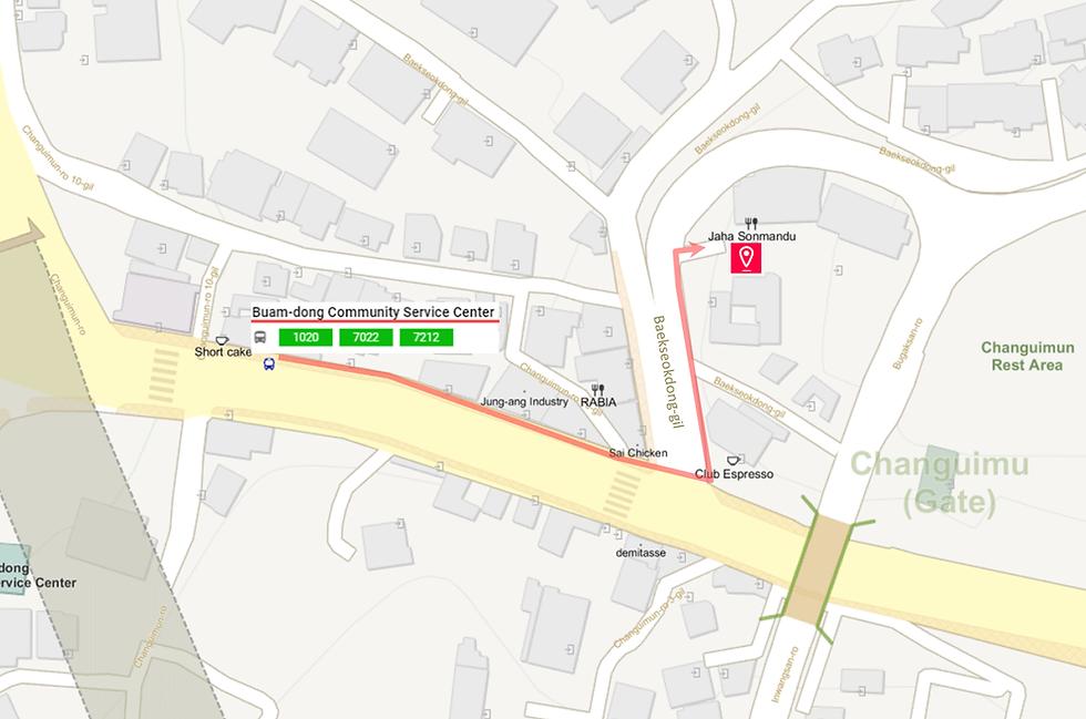Getting to Jaha Son Mandu & Location Map | Seoul, South Korea
