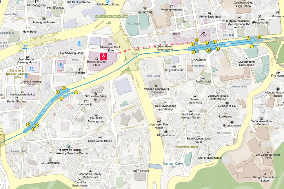 Getting to Shinsegae Department Store (Main Branch) & Location Map | Seoul, South Korea