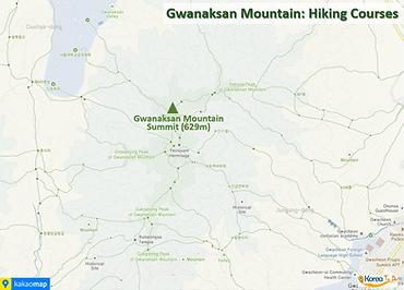 Gwanaksan Mountain - Map of Hiking Courses   KoreaToDo