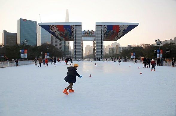 TOP Winter Places to Visit in & out Seoul -Olympic Park - Ice Skating Rink | KoreaToDo