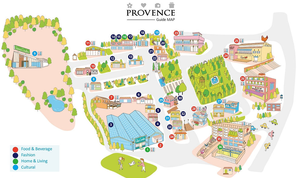 Paju - Provence Village Guide Map | Paju, South Korea