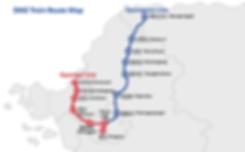 Map of DMZ Train Routes | South Korea