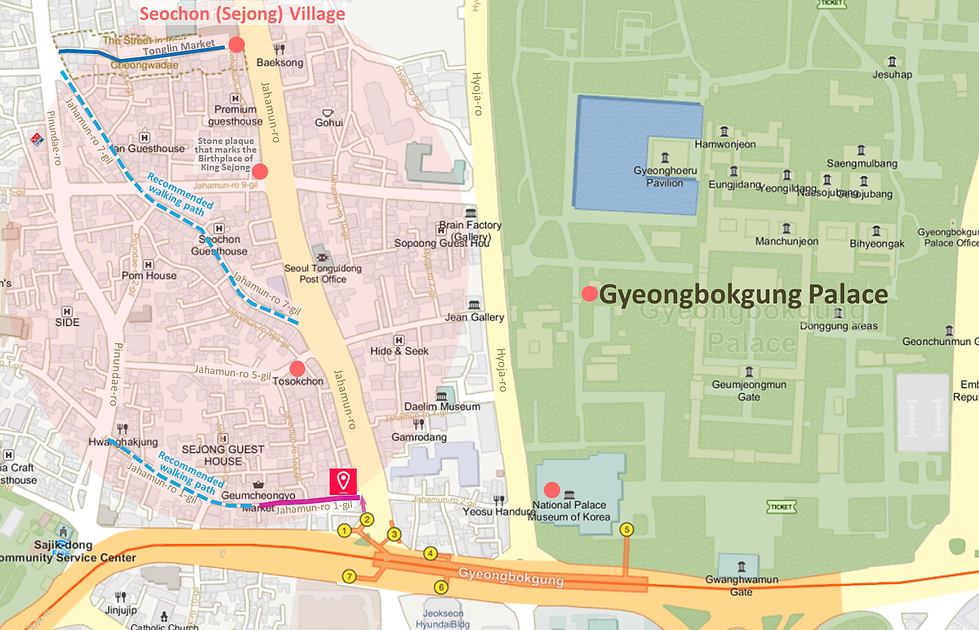 Getting to Sejong Village Food Street & Location Map | Seoul, South Korea