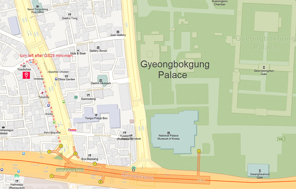 Getting to Tosokchon Samgyetang (Ginseng Chicken Soup) & Location Map | Seoul, South Korea