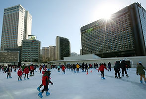TOP Winter Places to Visit in & out Seoul - Seoul Plaza Ice Skating Rink | KoreaToDo