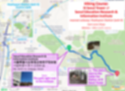 Map of Hiking Course - N Seoul Tower to/from Seoul Education Research & Informaton Institute