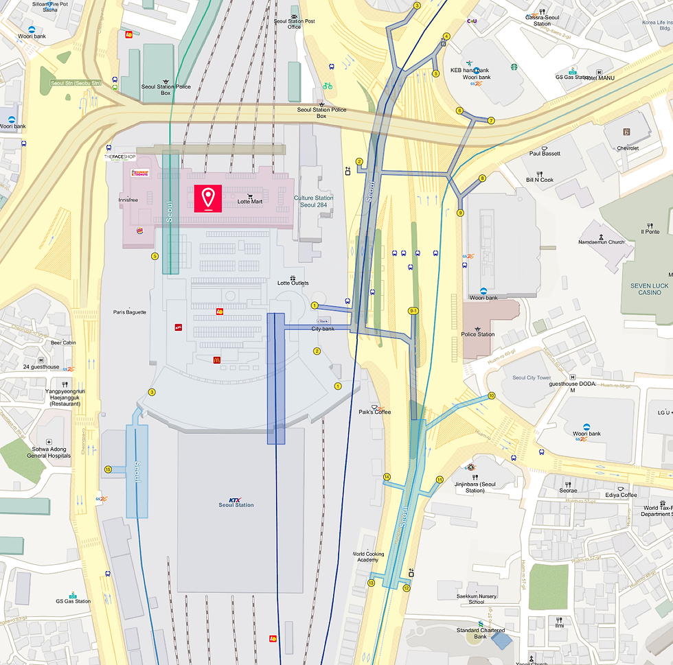Getting to Lotte Mart (Seoul Station Branch) & Location Map | Seoul, South Korea