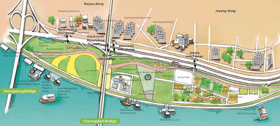 Visitor Map of Ttukseom Hangang Park | Seoul, South Korea