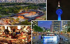 N Seoul Tower, Royal Palace & Foodie Market Night Tour