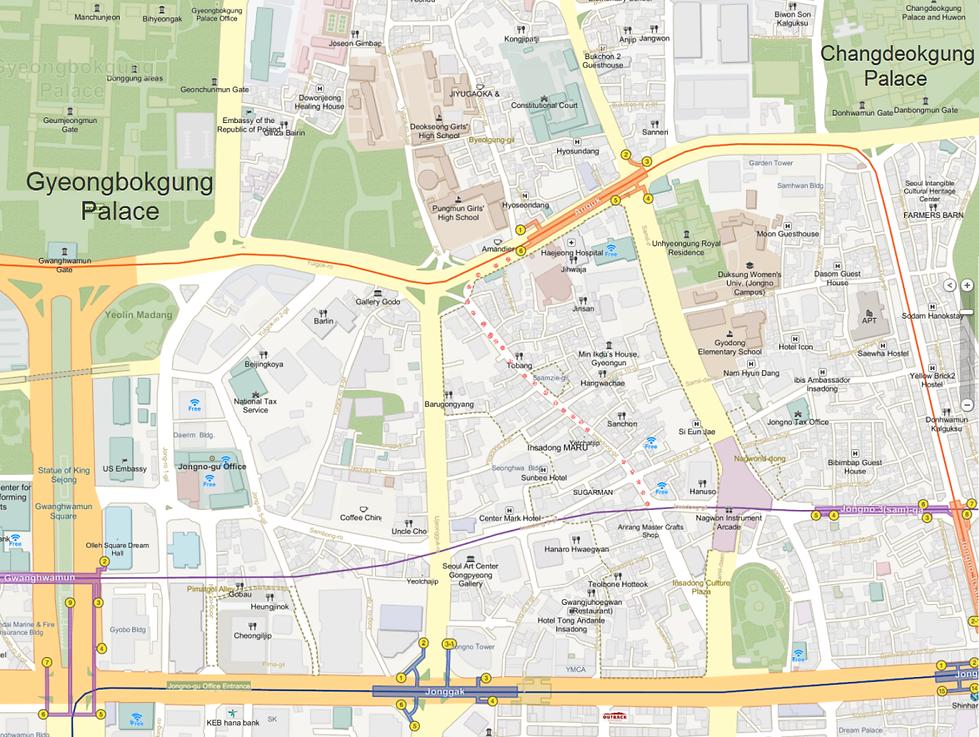 Getting to Insadong & Location Map | Seoul, South Korea
