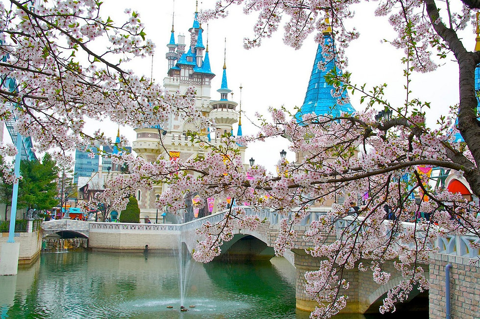 Lotte World - Magic Island in Spring | KoreaToDo