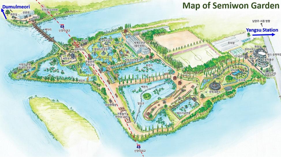 Yangpyeong - Map of Semiwon Garden