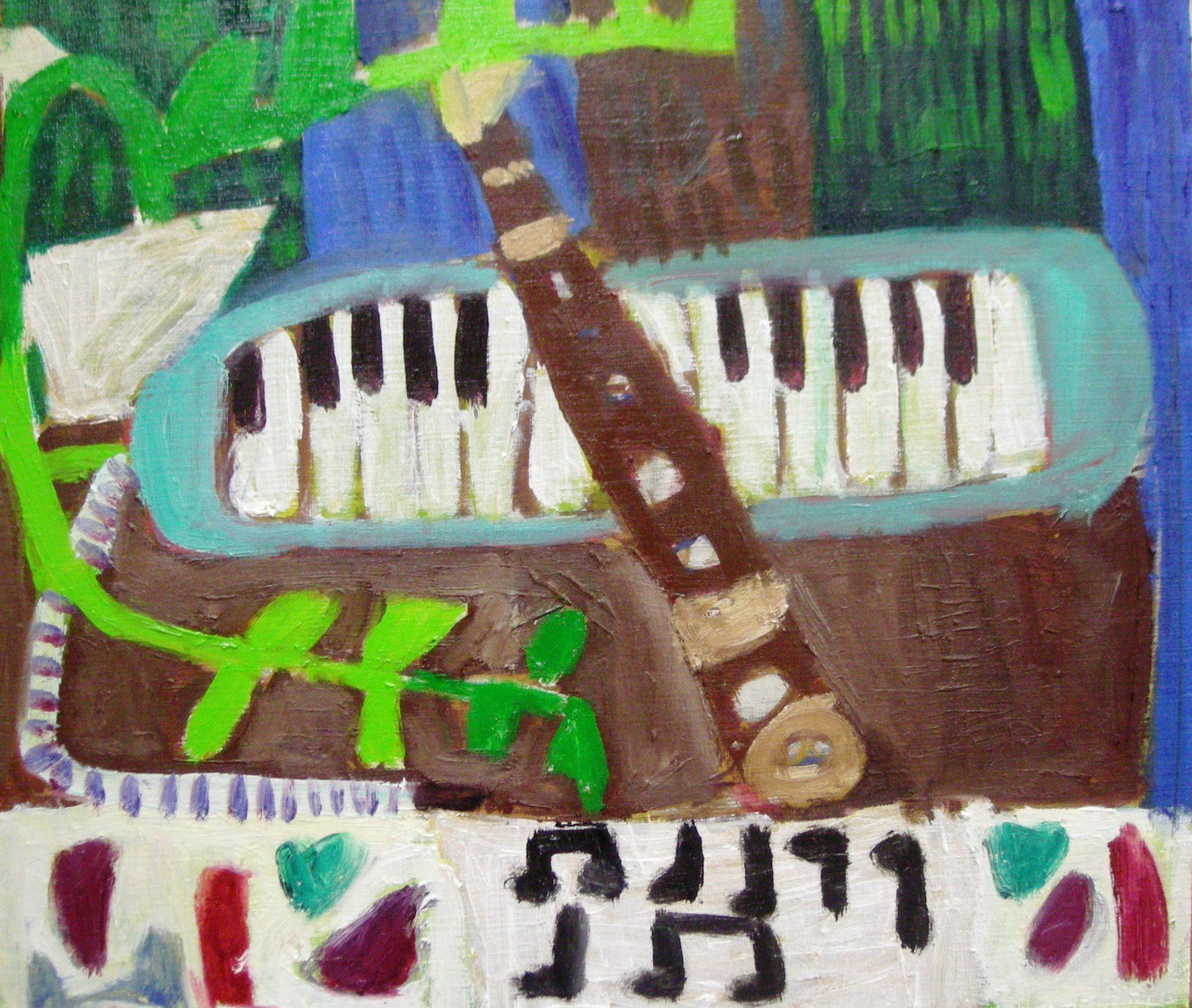 I・Hくん 小4 鍵盤ハーモニカとリコーダー 油絵