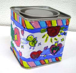 O・Sさん 小4 紅茶缶絵付け