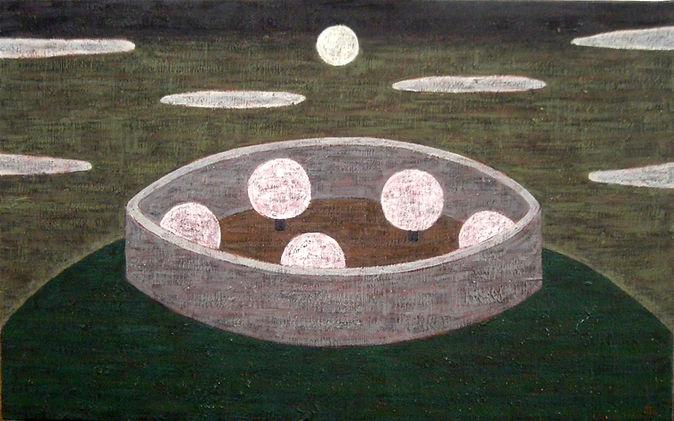 油彩画家。1955年生 多摩美術大学油彩画卒。ビルや円形球戯場、公園を題材とした油彩画を手掛ける。1987年より東京銀座にて作品を発表。近年は年に1度グループ展を主催するほか、個展や二人展にて新作を発表する。