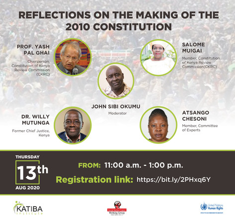 Reflections On The Making of the 2010 Kenyan Constitution (2020)
