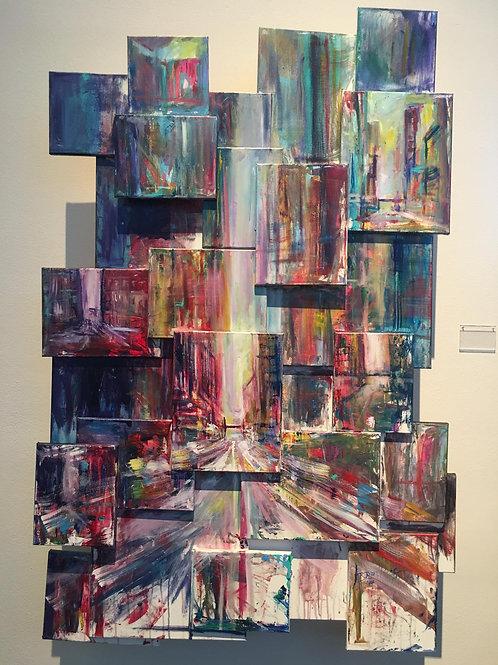 Block 080919 Painting on Canvas Sculpture Atist Arjoon Kc