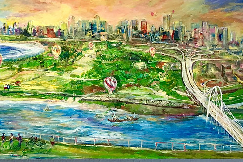 My dream scape of Happy Dallas Acrylic on Board by Arjoon Kc