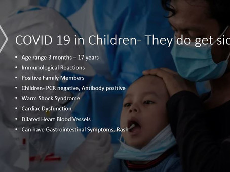 Covid-19 Children do get sick from the ICU perspective