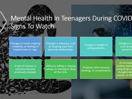 Its important parents focus on the mental health of teenagers during this COVID-19 pandemic.