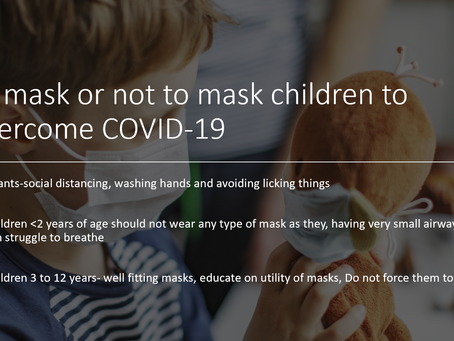 Mask or not to Mask your child to avoid COVID-19?