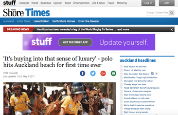 'It's buying into that sense of luxury' - polo hits Auckland beach for first time ever