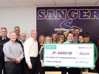 DATCU Credit Union donates $250,000 to Sanger ISD