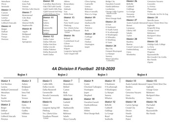 Class 4A 2018-2020 Realigments and high school enrollment figures