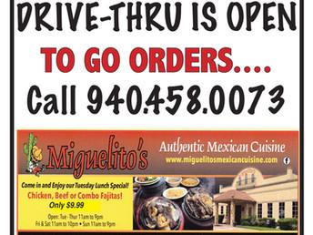 Mig's Drive-Thru is Open