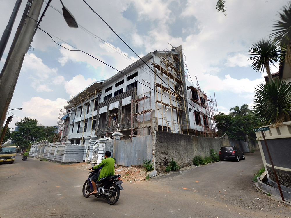Kondisi bangunan pada pertengahan Januari 2016