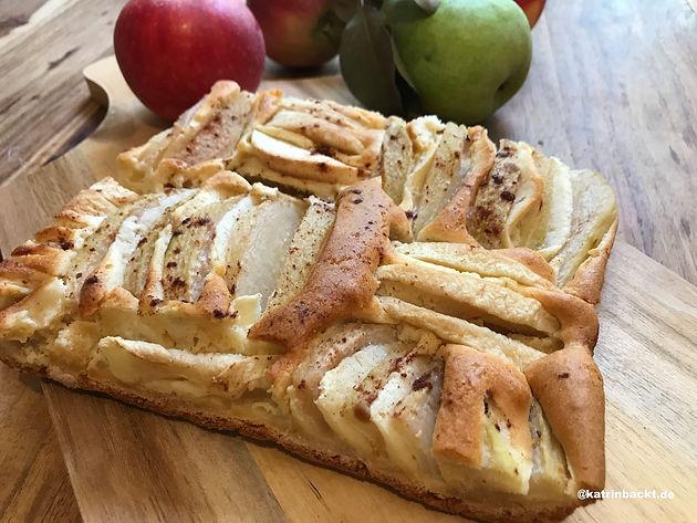 Apfel Birnen Kuchen Vom Blech Katrin Backt Rezepte Von A Z