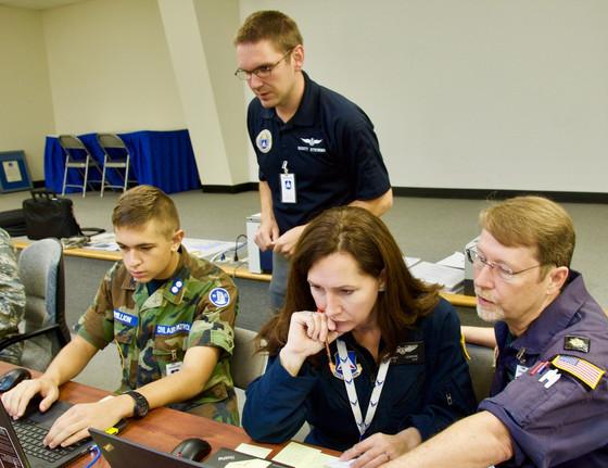 Vital N.C. Wing Flight Helps Restore Emergency 911 Service in Stricken City