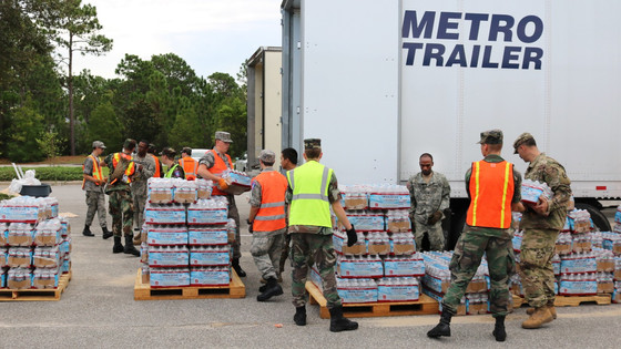 Va., Md. Wings Helping N.C. Distribute Supplies to Florence Victims