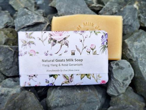 Goats Milk Soap with Ylang Ylang & Rose Geranium