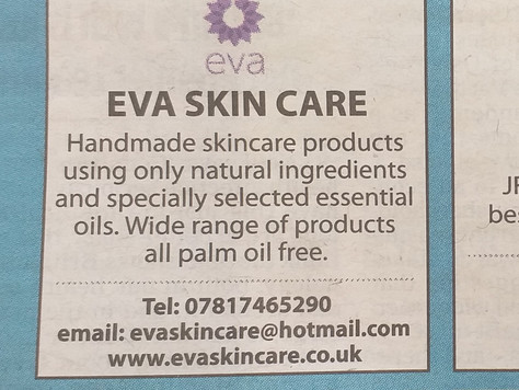 Eva Skin Care Hits the papers