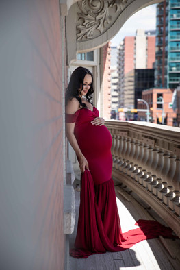 Studio maternity session in Calgary