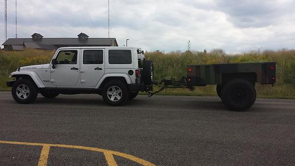 Wrangler towing M1101 trailer