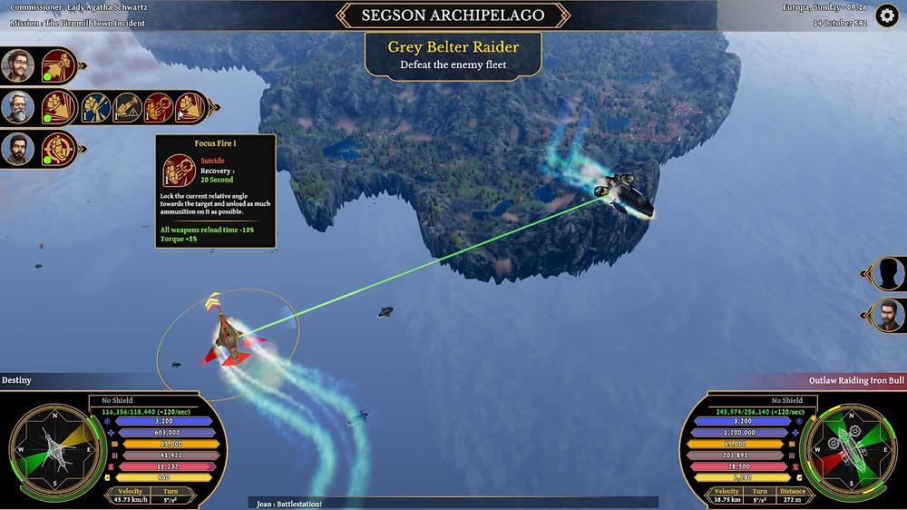 Ships moving into guns' range