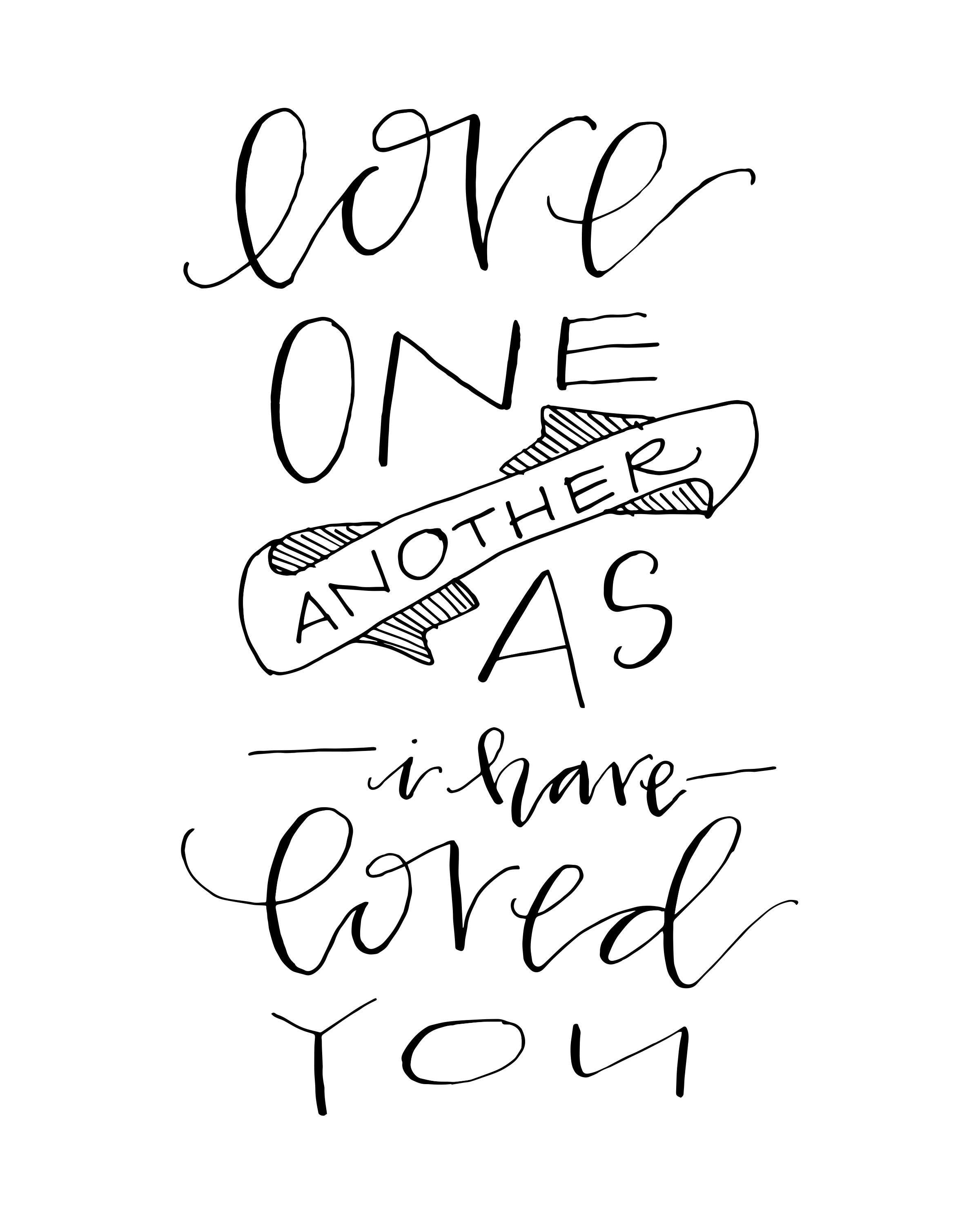 Love One Another: B&W