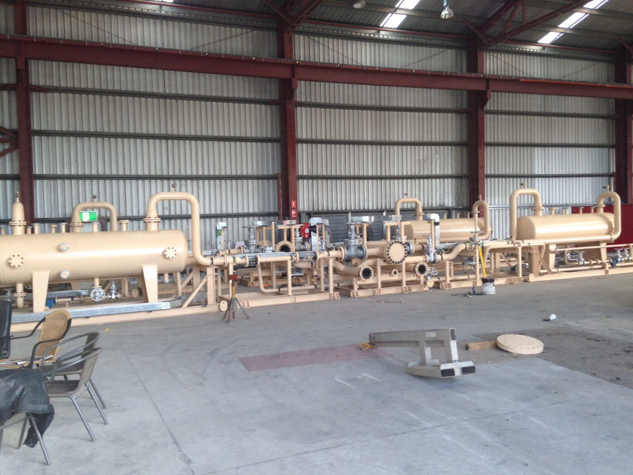 Vessel Skid Assembly