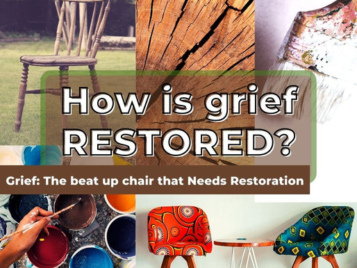 Grief can leave you feeling beat-up and even shattered.