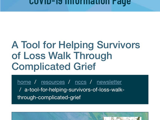 A Tool for Helping Survivors of Loss Walk Through Complicated Grief | NBCC