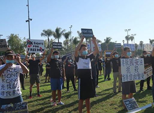 撐香港自由 洛杉磯民眾疫後首次集會聲援